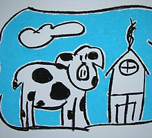 The Cow by Pat  Lackenbauer