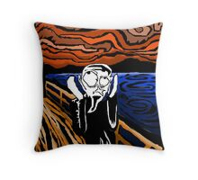 My Version of the Scream Throw Pillow
