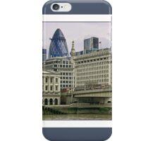 View of London Bridge and the Gherkin by Tim Constable iPhone Case/Skin
