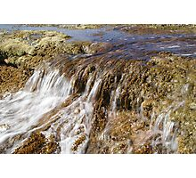 Water over Rocks Photographic Print