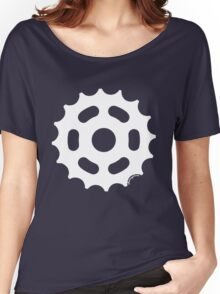 Large Sprocket White Women's Relaxed Fit T-Shirt