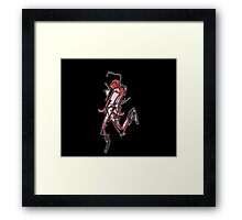 Sketchbook 0001-3 Running Downhill at Speed Goes Somewhat Awry Framed Print