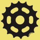 Large Sprocket Black by retrocyclisme