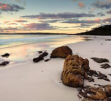 Hyams Beach Jervis Bay at sunrise  landscape seascape by Leah-Anne Thompson