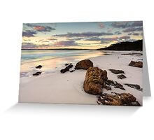 Hyams Beach Jervis Bay at sunrise  landscape seascape Greeting Card