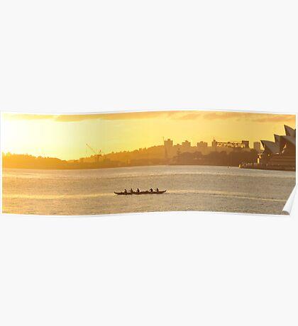 Stroke Stroke Srroke - Sydney Harbour,Sydney Australia Poster