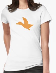Duck Hunt Symbol - Super Smash Bros. (color) Womens Fitted T-Shirt