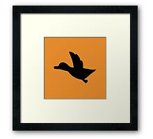 Duck Hunt Symbol - Super Smash Bros. (black) Framed Print