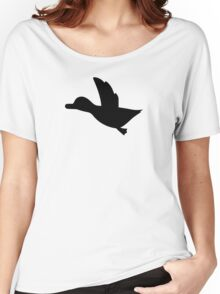 Duck Hunt Symbol - Super Smash Bros. (black) Women's Relaxed Fit T-Shirt