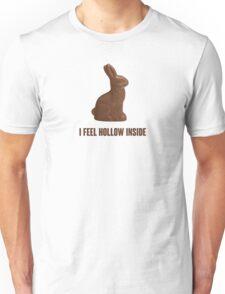 I Feel Hollow Inside Chocolate Easter Bunny Unisex T-Shirt