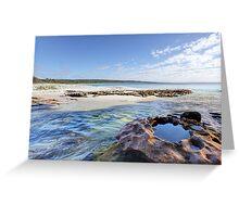 Flat Rock Creek, Hyams Beach Australia landscape seascape Greeting Card