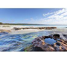 Flat Rock Creek, Hyams Beach Australia landscape seascape Photographic Print