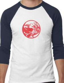 Earthbound Symbol - Super Smash Bros. (color) Men's Baseball ¾ T-Shirt