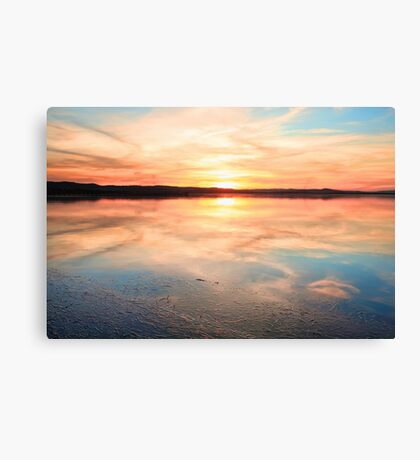 Long Jetty sunset Australia seascape Canvas Print