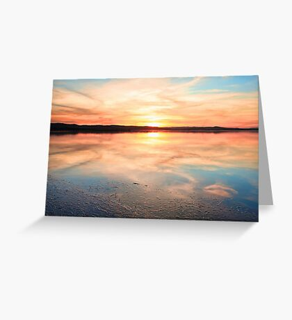 Long Jetty sunset Australia seascape Greeting Card