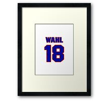 National baseball player Kermit Wahl jersey 18 Framed Print