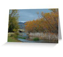 A River  Runs Through It - Ross, Tasmania, Australia Greeting Card