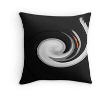 Swirling swan Throw Pillow