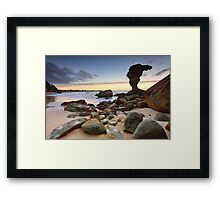 Beach Sunrise Noraville Central Coast NSW Australia seascape landscape Framed Print