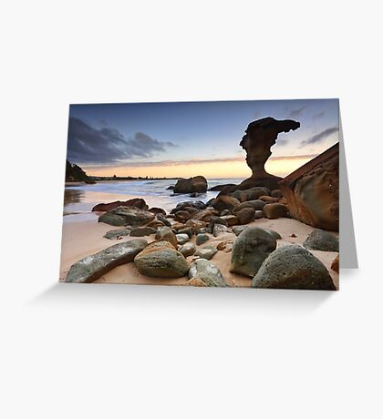 Beach Sunrise Noraville Central Coast NSW Australia seascape landscape Greeting Card