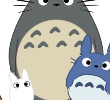 My Neighbor Totoro Wreath - Anime, Catbus, Soot Sprite, Blue Totoro, White Totoro, Mustard, Ochre, Umbrella, Manga, Hayao Miyazaki, Studio Ghibl Sticker
