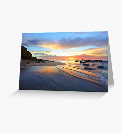 Magnificent sunrise morning at Bateau beach Australia seascape landscape Greeting Card