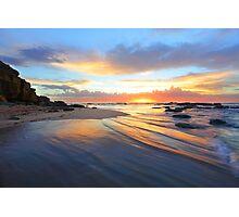 Magnificent sunrise morning at Bateau beach Australia seascape landscape Photographic Print