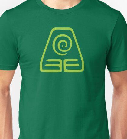 Earthbending Symbol (light) Unisex T-Shirt