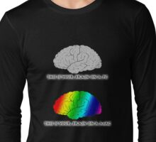 Brain on a Mac Long Sleeve T-Shirt