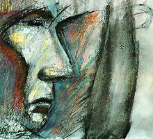 Warrior Spirit - 2.10.08 - Pen, Charcoal, Conte - 15 min by Micheal Bilyeu