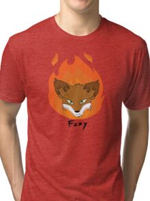 The Green-eyed Foxy Tri-blend T-Shirt