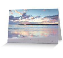 Pretty pastel dawn sunrise at Hyams Beach Australia seascape Greeting Card