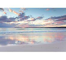 Pretty pastel dawn sunrise at Hyams Beach Australia seascape Photographic Print