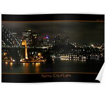 Sydney - City of Lights Poster