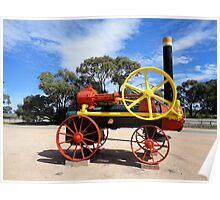 Steam Traction Engine, Paringa, South Australia 2011 Poster
