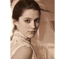 Wedding Glance Photographic Print