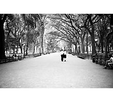 Take A Walk In the Park With Someone You Love Photographic Print