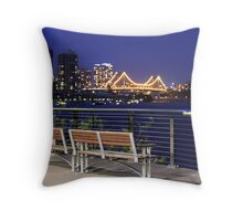 Relaxing In Brisbane Throw Pillow