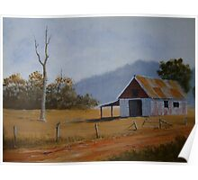Old Farm Shed - Painting Poster