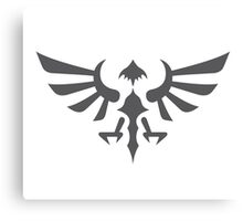 Hylian Crest (gray) Canvas Print