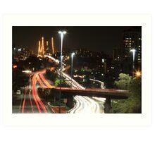 Brisbane Traffics Art Print