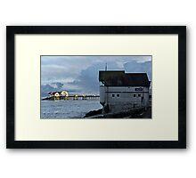 Mumbles Pier at Sundown Framed Print