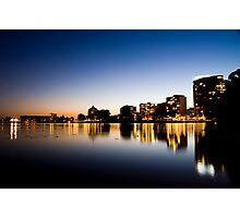 Oakland From Lake Merritt Photographic Print