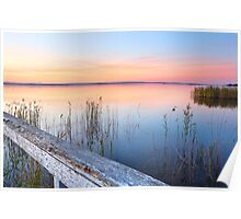 Stunning sunset at Long Jetty NSW Australia seascape Poster