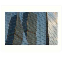 Building reflection1 Art Print