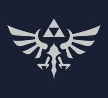 The Legend of Zelda Royal Crest (silver) by hopperograss