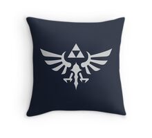 The Legend of Zelda Royal Crest (silver) Throw Pillow