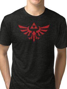 The Legend of Zelda Royal Crest (red) Tri-blend T-Shirt