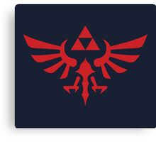 The Legend of Zelda Royal Crest (red) Canvas Print