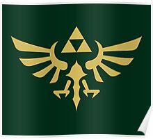The Legend of Zelda Royal Crest (gold) Poster